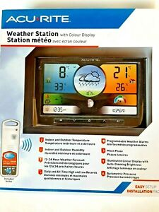 Acurite Weather Station With Wireless Sensor and Colour Display New