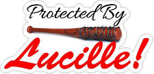 The Walking Dead Protected By Lucille Baseball Bat Car Wall Macbook Laptop