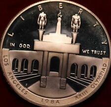 Uncirculated Proof 1984-S Los Angeles XXIII Olympiad Silver Dollar
