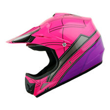 New Youth Kids Motocross Motorcross MX BMX Bike Helmet Spider Pink S M L