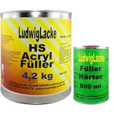 5 kg Set Acryl Füller GRAU Grundierung Rostschutz Acrylfüller für Autolack