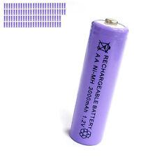 100 pcs AA 2A 3000mAh 1.2V Ni-MH rechargeable battery Solar Light MP3 Toy Purple
