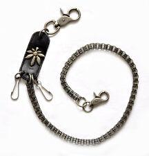 Portemonnaie Schlüsselkette HosenKette unisex schwarz / silber 67cm x 0.8cm