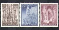 Austria 1977 Cathedral/Buildings/Architecture/Religion/Carving 3v set (n37404)