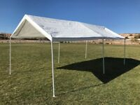 Palm Springs 10 x 20 Feet Outdoor Carport Shade Canopy Party Tent