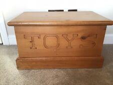 Toy Box Solid PIne / Chest / Trunk / Ottoman Storage, Present,Gift,Nursery,Child