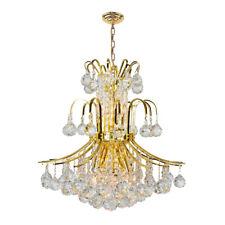 SALE Empire 9 Light Gold Crystal Chandelier 19