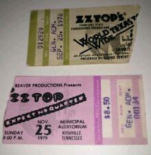 Z Z Top My Original Concert Ticket Stub's 1976 & 1979 Nashville,Tn. * Make Offer