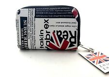 Ladies Girls Newspaper Union Jack Print Wallet Coin Purse Christmas Present