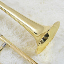 ☆ ☆☆☆☆ New Gold Slide Trumpet Bb Key Soprano Trombone Horn with MPC Case