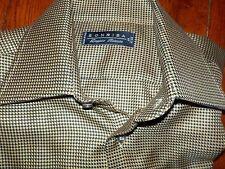 SONRISA Men's L/S Shirt size 15 3/4 (40) gold black chevron Doppio Ritorto ITALY