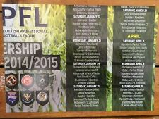 Scottish Football Fixtures Poster 2014/15
