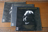 KLEMPERER CONDUCTS WAGNER VOLUMES 1 , 2 & 3 ASD 2695 2696 2697 ALL 3 LPs EX