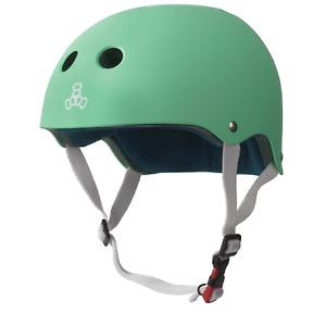 Triple 8 Certified Sweatsaver Helmet, Rubber Mint Green