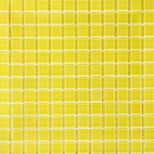 Glossy Yellow Glass Mosaic For Wall and Floor Tile