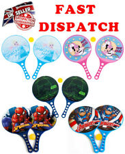 Disney Rockets Paddle Bat and Ball Tennis SET Game Holiday Beach Outdoor Toys