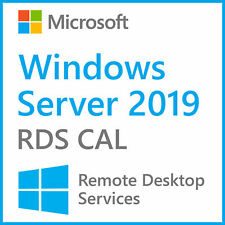 Win Server 2019 Remote Desktop Service User connections 50 RDS CALs Product Key