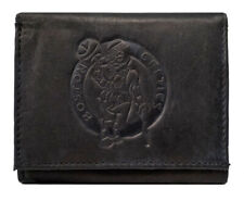 Rico Industries NBA Laser Engraved Tri-Fold Wallet Black