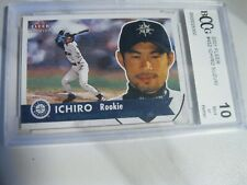 2001 fleer tradition future hofer ichiro suzuki rookie cardl bccg 10/mint!