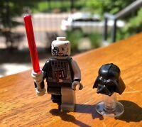 GENUINE LEGO STAR WARS DARTH VADER BATTLE DAMAGED MINIFIGURE ONLY FROM# 7672