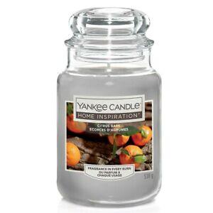 Yankee Candle Home Inspiration Citrus Bark Jar Candle LARGE New