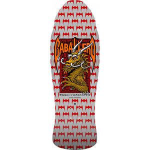 "Powell Peralta Skateboard Deck Caballero Street Dragon Silver 9.625"" x 29.75"""
