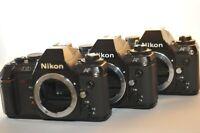 Lot of THREE Nikon N2020 F-501 35 mm Film analog SLR cameras PARTS REPAIR