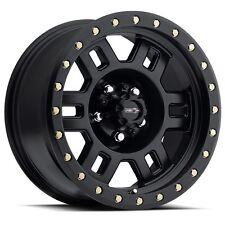 "16"" Vision Manx Matte Black Wheels Rims 8x6.5 8 Lug Dodge RAM Chevy GMC HD Truck"