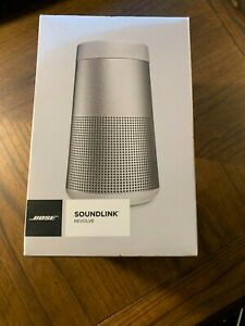 Bose SoundLink Revolve Portable Bluetooth Speaker - Silver with case