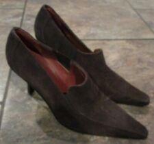 DONALD J PLINER Muneco Ladies Pumps 10 M Brown Suede High Heel Shoes