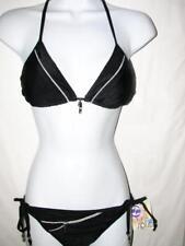 $88 Split Black Padded Bikini  Swimsuit  NWT MEDIUM   Cruise