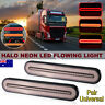 2X Flowing Turn Signal Brake Rear Stop Tail Light Halo Neon LED RV Trailer Truck