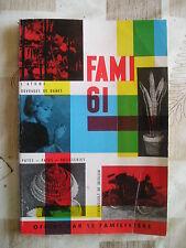 FAMY 61-FAMILISTERE 1961-ALMANACH-SOMMAIRE-VOITURES DU PASSE MINIATURES--VOIR
