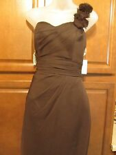 DaVinci 60057 Size 10 Brown Chocolate Prom Bridesmaid Short Dress NWT $189 Cute