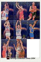 1996 Futera NBL (Australia Basketball) Card Outer Limits Subset (8 cards)