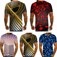 -Summer Men Fashion Short Sleeve Funny T-shirts The 3D Print Casual T-Shirts