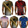 Summer Men Fashion Short Sleeve Funny T-shirts The 3D Print Casual T Shirts