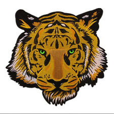 Roaring and Jumping Tiger Animal Iron Sew on Embroidered Patch applique #1815