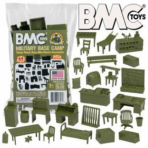 BMC Classic Marx Military Base Camp - 44 pc. Plastic Army Men Set