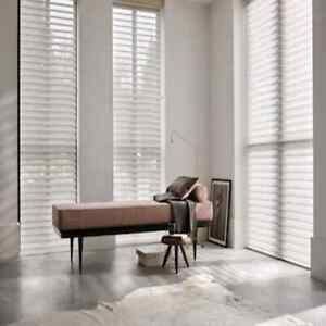 MOTORISED Blinds Luxaflex Shade Silhouette 6374 Ombre Dream White W830 x H1710mm