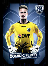 Dominic Feber Autogrammkarte SC Babelsberg Original Signiert+A 163421