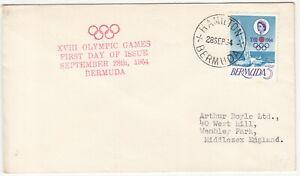 Bermuda: Olympic FDC; Hamilton to Wembley Park, 28 September 1964