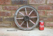 Vintage old wooden cart wagon wheel  / 33 cm - FREE DELIVERY