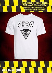 Maglietta t-shirt Illuminati Crew Youtube YT youtuber - Miglior prezzo assoluto