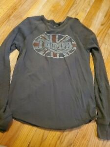 Triumph Motorcycles, Lucky Brand Shirt Men's Size Small * long sleeve * vintage