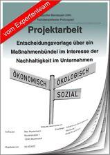 Betriebswirt BW Projektarbeit & Präsentation IHK Nachhaltigkeit