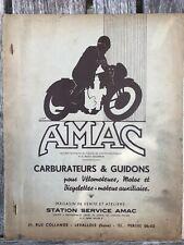 AMAC - Carburateurs & Guidons - 1956