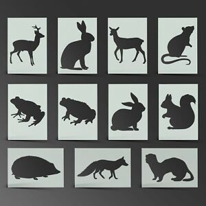 Animal Stencil Woodland Mylar Sheet Painting Wall Art Craft Airbrush 190 Micron