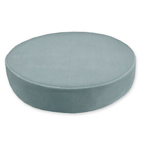 Mf22r Pale Blue Grey Microfiber Velvet 3D Round Seat Cushion Cover Custom Size
