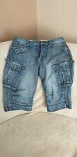 Voi Jeans Mens Denim Cargo Shorts 30/32 Waist